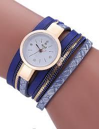 Women's Bracelet <b>Watch</b> Wrap Bracelet <b>Watch</b> Quartz Quilted <b>PU</b> ...