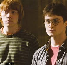 Ron Weasley, played by Rupert Grint, and Harry Potter, played by Daniel Radcliffe. Harry Potter actor Daniel Radcliffe and Rupert Grint (Ron Weasley) return ... - article-0-02E3EAE700000578-58_468x453