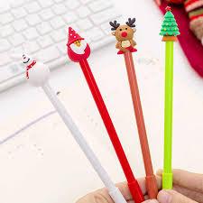 <b>4pcs</b>/<b>lot Cute</b> Kawaii Santa Claus Gel Pens <b>Creative</b> Christmas Pen ...