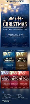 christmas story church flyer poster template the christmas xmas the christmas story church flyer template 6 00