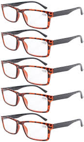 Eyekepper Reading Glasses <b>5</b>-Pack Retro <b>Style</b> Readers with ...