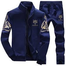 Generic Stylish <b>Spring Men's Sports Suit</b> Casual Long ...