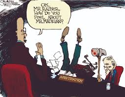 Image result for editorial cartoons about arbitration