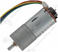 JGA25-371 DC Gearmotor with <b>Encoder</b> (126 RPM at 12 V) | Open ...