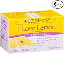 Bigelow I Love Lemon Herbal Tea Bags, 20 Count ... - Amazon.com