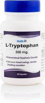 HealthVit <b>L</b>-Tryptophane <b>500 mg 60</b> Capsules Price in India - Buy ...