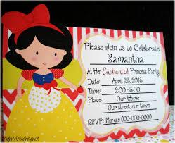 snow white princess party invitation snow white princess party invitation
