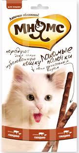 <b>Мнямс лакомые палочки</b> с <b>говядиной</b> и печенью (3 шт по 5 гр.),