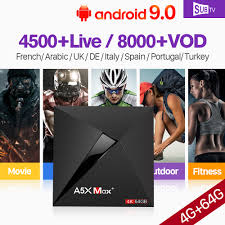 <b>Italia Arabic France</b> IPTV Spain A5X MAX+ Android 9.0 USB3.0 BT4 ...