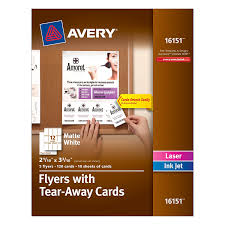 amazon com avery matte white flyers tear away cards 2 1 x amazon com avery matte white flyers tear away cards 2 1 x 3 3 inches pack of 120 cards 16151 blank postcards office products