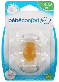 <b>Пустышка</b> латексная ортодонтическая Bebe confort Natural ...