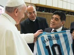Resultado de imagen de El Papa recibe Jugadores de futbol
