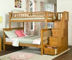 image of wood twin loft bed with stairs amazing twin bunk bed