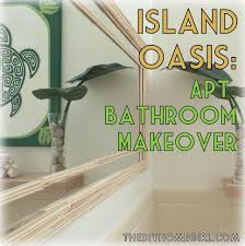 masks bathroom accessories set personalized potty: ohio to oahu how i turned my apartment bathroom into a tropical oasis