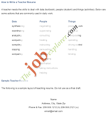 sample of resume for teaching job in professional resume sample of resume for teaching job in sample resumes and resume examples job huntorg how
