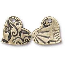 <b>Wholesale Heart Charms</b> for Jewelry Making - TierraCast