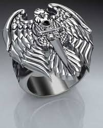 Details about Men <b>Stainless Steel</b> Fashion Gothic <b>Punk Angel</b> Wing ...