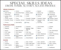 resume with skills section template resume template skills section