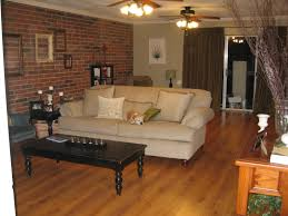 large living room with exposed 63 brasilia court brick living room furniture
