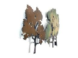 tree scene metal wall art: metal wall art forest tree scene