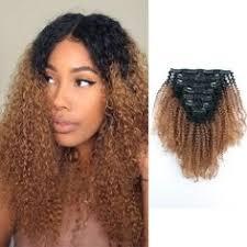#<b>1B</b>/<b>30 Ombre</b> Jerry <b>Curly</b> Clip In Hair Extensions | <b>Curly</b> Clip In Hair ...