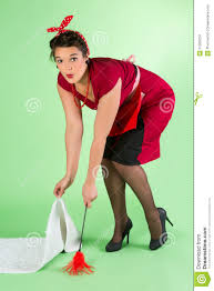 Image result for glamorous woman doing housework