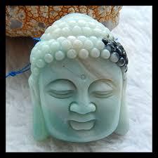 Резная фигурка в виде головы Будды, подвеска из <b>родонита</b> ...