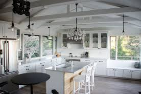 kitchen lighting for vaulted ceilings white kitchen with vaulted ceiling best lighting for sloped ceiling