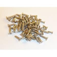 <b>Chrome</b> plated Wood Screws <b>5mm x</b> 2mm (<b>100</b> screws) - Veneer Inlay