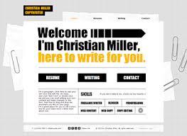 copywriter cv website template   wix