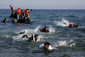 syrian migrant sets himself on fire in protest report the migrants whose boat stalled at sea while crossing from turkey to swim to approach the