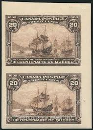 Image result for 1908 Quebec Tercentenary issue imperforates
