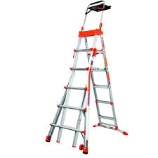 little giant ladder systems ft aluminum select step multi aluminum select step multi position ladder 300 lb load capacity type ia duty rating
