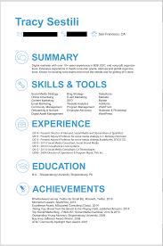 tracy sestili resum eacute  tracy resume online