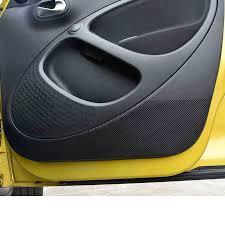 <b>lsrtw2017</b> carbon fiber <b>pvc car</b> door anti kick film for smart fortwo ...
