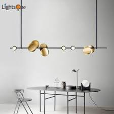 Modern Ceiling Lamp Black Metal 6 8 Heads Art Deco Ceiling Light ...