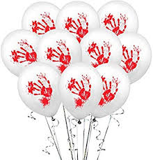 10 / Pack <b>Halloween Skull</b> Pumpkin <b>Blood Handprint</b> Latex Balloon ...