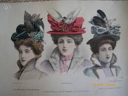 """Résultat de recherche d'images pour """"chapeaux femme année 1900"""""""