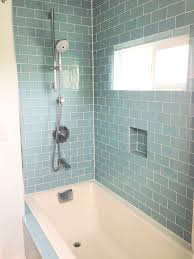 ceramic subway tile wall bathroom
