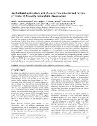 (PDF) Antibacterial, antioxidant, anti-cholinesterase potential and ...