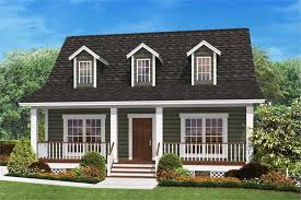 Small Country Home Plan   Two Bedrooms   Plan          middot  Front elevation rendering of Country Home plan
