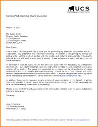 thank you letter after internship letter format for 10 thank you letter after internship