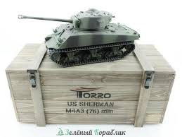 Купить Р/У <b>танк Torro Sherman</b> M4A3 76mm, 1/16 2.4G, ИК-пушка ...