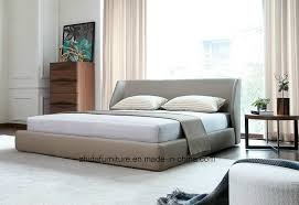 China Modern Hotel Home Bedroom Furniture <b>King Queen Leather</b> ...