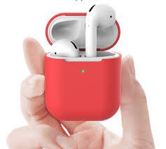 <b>Силиконовый чехол</b> для Apple AirPods 2 с индикатором <b>заряда</b>