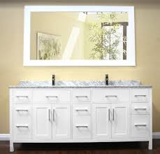white double sink bathroom  design element london  double sink vanity white
