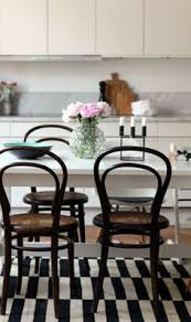 black and white with a touch of color kitchen bentwood chairs seventeendoors black bentwood chairs