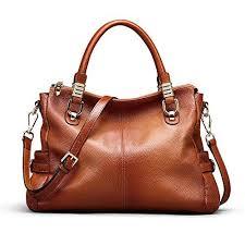 Kattee Women's <b>Vintage Genuine Leather</b> Tote <b>Handbag Purse</b> ...