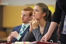 central college katie gatzke won the outstanding attorney award at central college s mock trial invitational jan 21