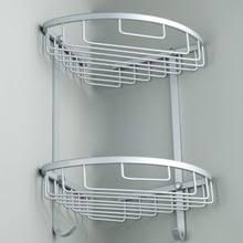 <b>Угловая Двухуровневая полка</b> для ванной комнаты, треугольная ...